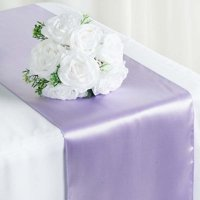 """Efavormart Premium SATIN Table Top Runner For Weddings Birthday Party Banquets Decor Fit Rectangle and Round Table 12"""" x 108"""""""