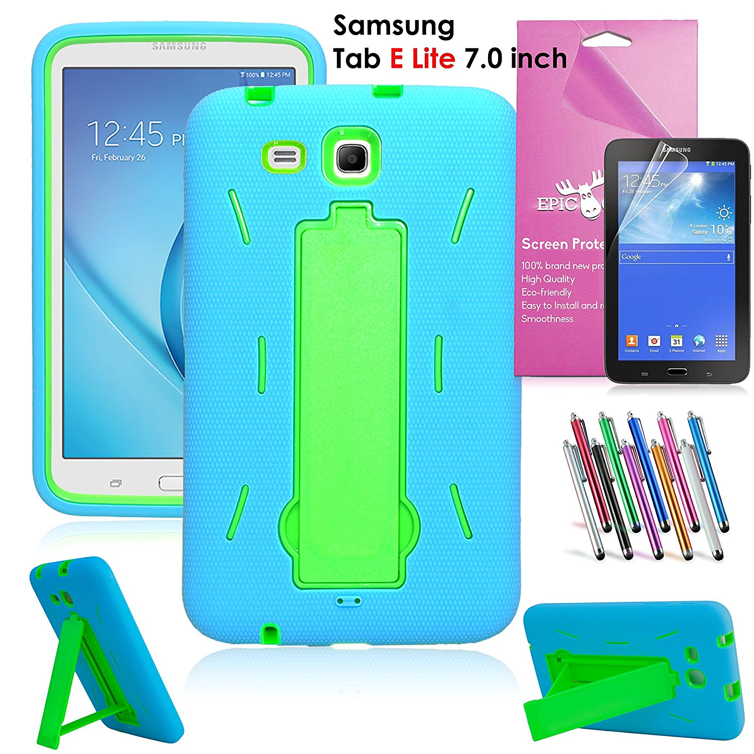 big sale 84195 a6fc2 Samsung Galaxy Tab E Lite 7.0/Tab 3 Lite 7.0 Case, EpicGadget Heavy Duty  Rugged Impact Hybrid Case with Build In Kickstand Protection Cover For  Galaxy ...