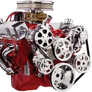 - Billet Specialties 13220 SB-Chevy Tru Trac Serpentine Belt System with Power Ste