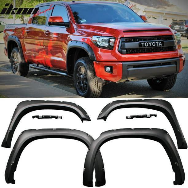 Compatible With 14 19 Toyota Tundra Pocket Rivet Style Fender Flares 4pc Pp Walmart Com Walmart Com