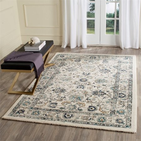 Safavieh Carmel 2' X 8' Power Loomed Rug in Beige and Blue - image 1 de 2