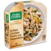 Healthy Choice Cafe Steamers Frozen Dinner Grilled Chicken Pesto with Vegetables 9.9 Ounce