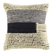 Better Homes & Gardens Handcrafted Banded Loop Decorative Throw Pillow, 18
