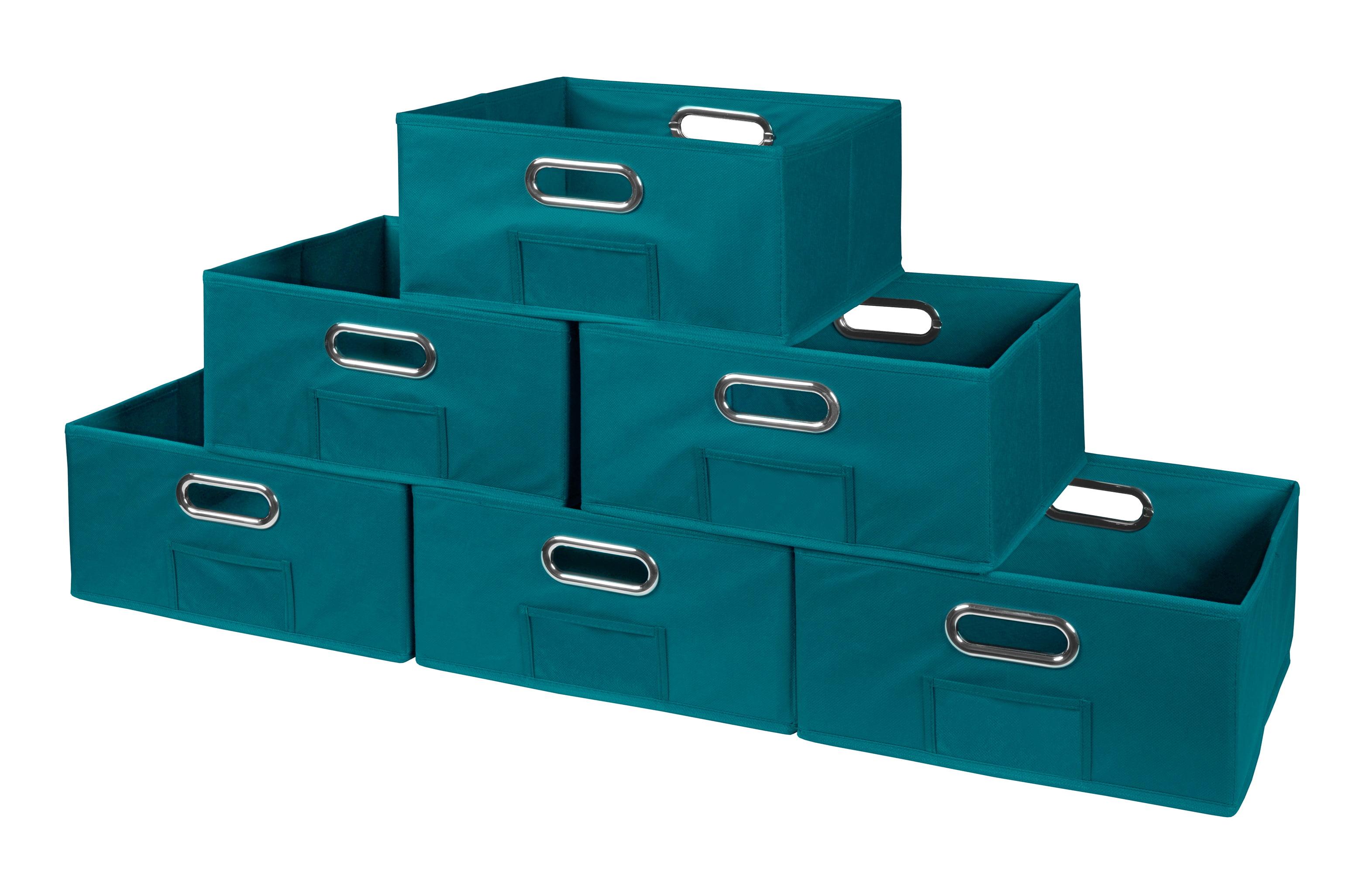 Niche Cubo Set of 6 Half-Size Foldable Fabric Storage Bins- Blue by Regency