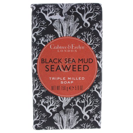 Crabtree & Evelyn Black Sea Mud & Seaweed Triple Milled Bar Soap, 5.6 Oz ()