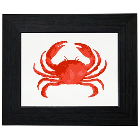 Big Red Crab   Maryland Chesapeake Bay Crab Framed Print Poster Wall Or Desk Mount Options