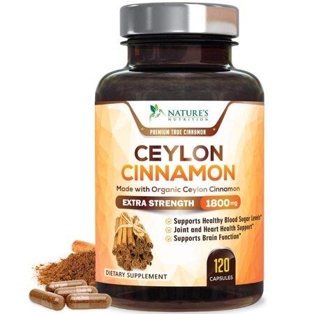 Nature's Nutrition Ceylon Cinnamon Supplement, 1800 mg, 120 -