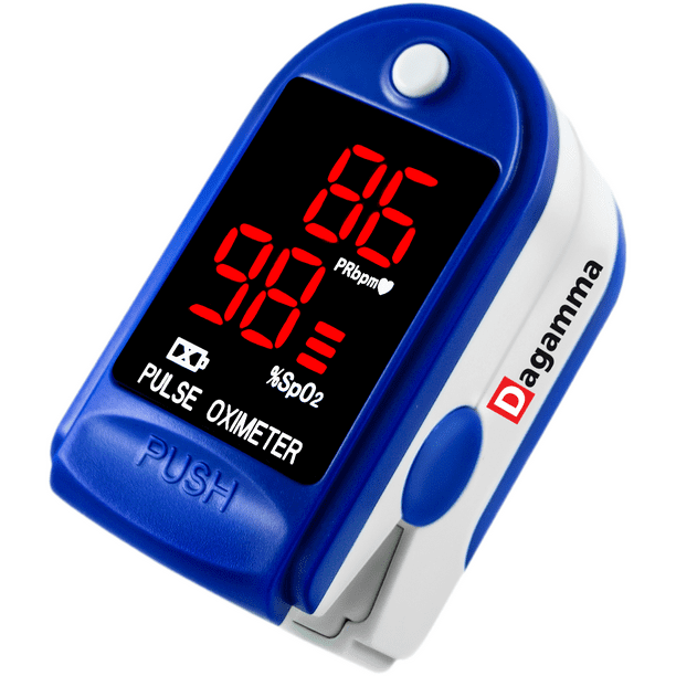 Finger Pulse Oximeter DP100 in Blue Sapphire - The Authentic Pulse Oximeter by Dagamma