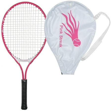 Pink Streak Junior Tennis Racquet with Cover - Lengths: 19