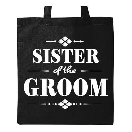Wedding Totes (Sister of the Groom Wedding Party Tote Bag Black One)