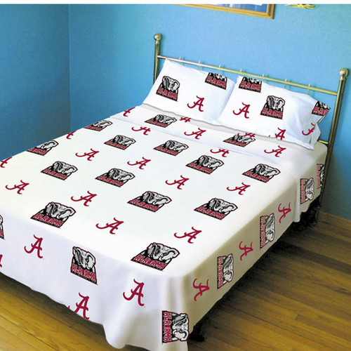 College Covers Collegiate Printed Sheet Set - White