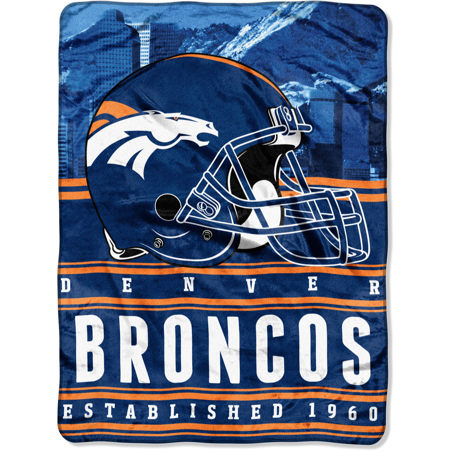 "NFL Denver Broncos ""Stacked"" 60"" x 80"" Silk Touch Throw"