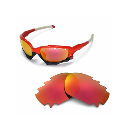 3fe9e6af613 Walleva - Walleva Fire Red Polarized Vented Replacement Lenses for Oakley  Jawbone Sunglasses - Walmart.com