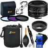 Nikon AF FX NIKKOR 50mm f/1.8D Lens with Auto Focus for Nikon DSLR Cameras + 3pc Filter Kit (UV,FL-D,CPL) + 8pc Accessory Kit w/ HeroFiber Gentle Cleaning Cloth This kit includes 12 items. Lens includes manufacturer's supplied accessories, and all items are backed with Hot Deals Electronics 1 year 100% Satisfaction GuaranteeNikon AF FX NIKKOR 50mm f/1.8D Lens Auto Focus: Nikon D2X, D3, D3S, D3X, D4, D4S, D5, D80, D90, D200, D300, D300S, D500, D600, D610, D700, D750, D800, D800E, D810, D7000, D7100 & D7200 Digital SLR Cameras. Manual Focus: Nikon D40, D40x, D60, D3000, D3100, D3200, D3300, D5000, D5100, D5200, D5300 & D5500 Digital SLR CamerasUV Protection FilterCPL (Circular Polarizer) FilterFL-D (Fluorescent) FilterFilter CaseXtech 3-in-1 Soft Rubber Lens HoodXtech Soft Lens Pouch with Clip & Belt LoopXtech 2-in-1 Lens Cleaning PenXtech Dust Cleaner Blower2 Xtech Universal Lens Cap KeepersHeroFiber® Ultra Gentle Cleaning Cloth