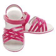 Fuchsia Criss Cross Straps Sandals Shoes Baby Toddler Little Girl 4-12