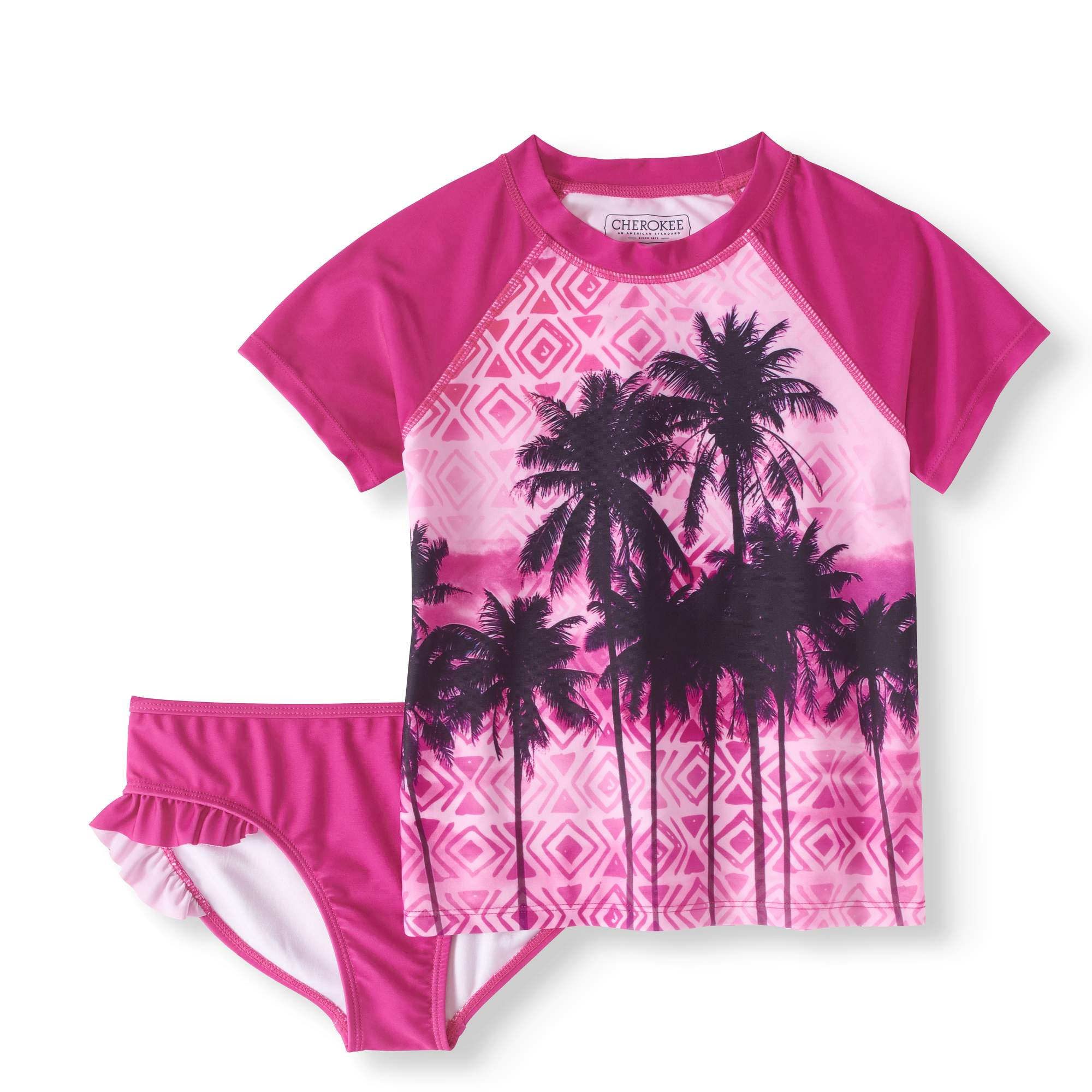 Girls' Rashguard And Swim Bottom 2 Piece Set