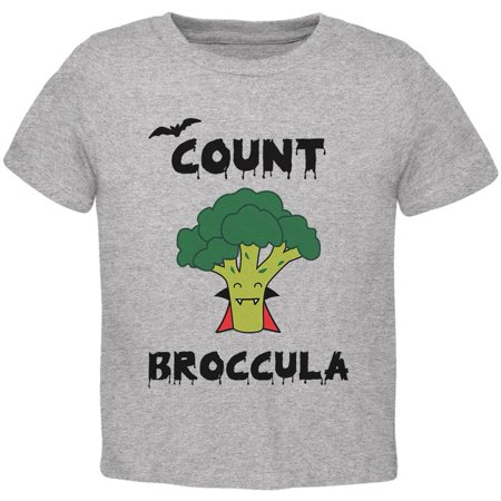 Halloween Vegetable Broccoli Count Broccula Dracula Funny Toddler T Shirt (Funny Double Acts For Halloween)
