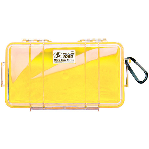 Pelican 1060025240 1060 Stainless Steel Micro Case, Yellow
