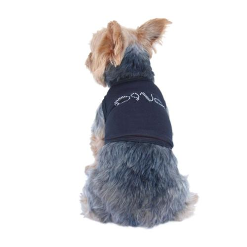 Black Diva Rhinestone Black Tee T Shirt For Puppy Dog Clothing Clothes - Small (Gift for Pet)