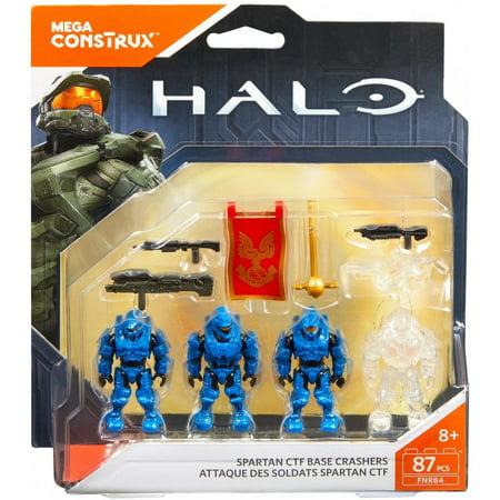 Mega Construx Halo Spartan Capture the Flag Blue Team Base - Halo Blue Spartan