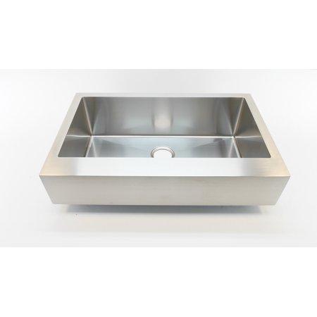 Auric Sinks 36 Retro fit Farmhouse Short Apron Flat Front Single Bowl