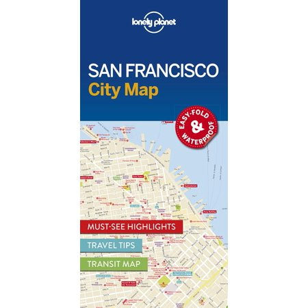 San francisco city map - folded map: (Best Cities To Live Near San Francisco)