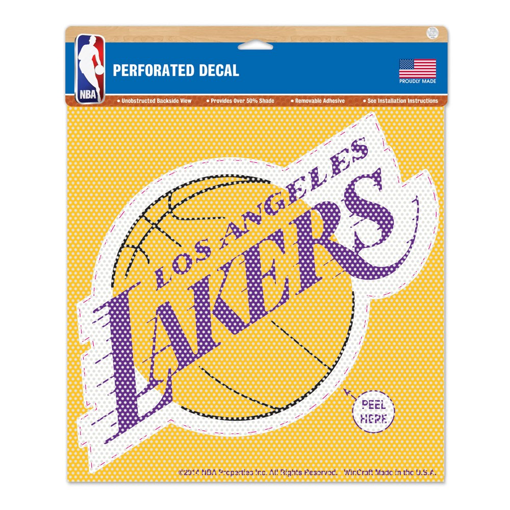 Los Angeles Lakers Official NBA 12 inch x 12 inch  Window Shade by Wincraft
