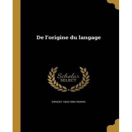 de L'Origine Du Langage - image 1 of 1
