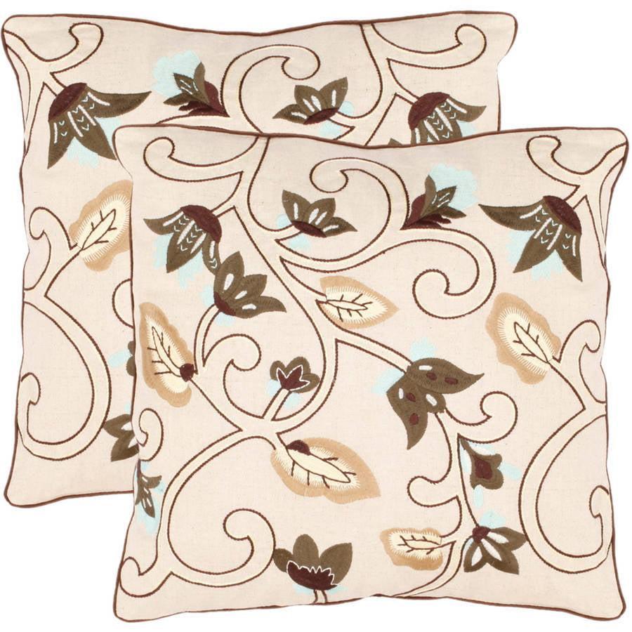 Safavieh Floral Batik Pillow, Set of 2