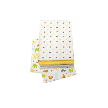 Carters Striped Blanket (Carter's Neutral Receiving Blankets, Safari, 4 Count )