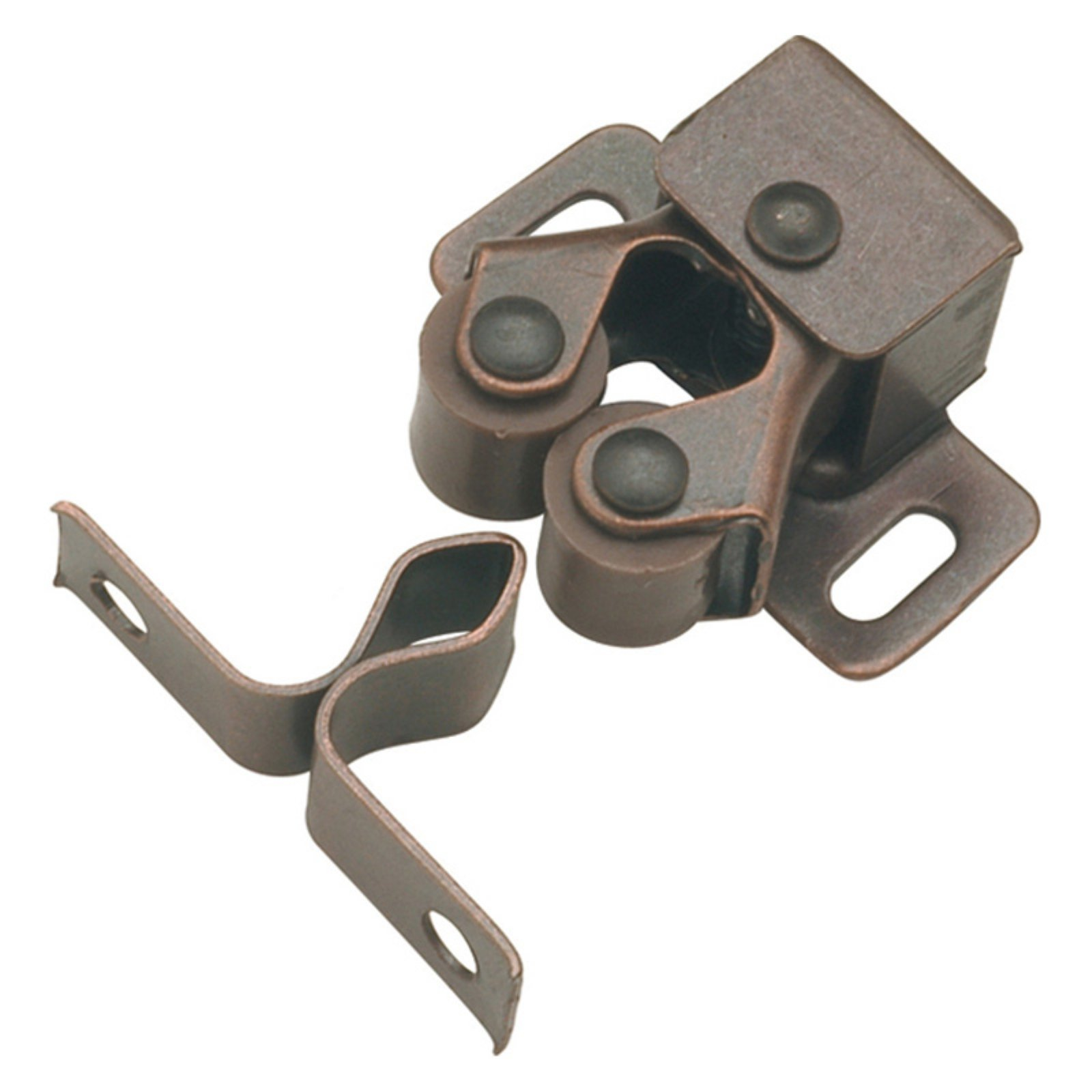Hickory Hardware Statuary Bronze Double Roller Catch - Set of 2