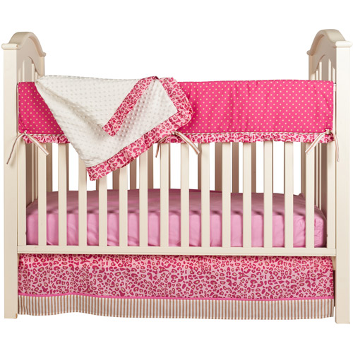 Pam Grace Creations Simply Cheetah 4-Piece Crib Bedding Set