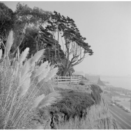USA California Los Angeles Wilshire Boulevard Pacific Ocean seen from Miracle Mile Stretched Canvas -  (18 x
