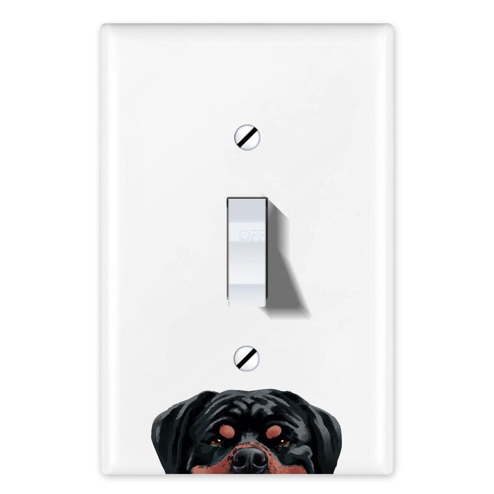 Wirester 1 Gang Toggle Light Switch Wall Plate Switch Plate Cover Animal Black Tricolor Aussie Australian Shepherd Dog Walmart Com Walmart Com