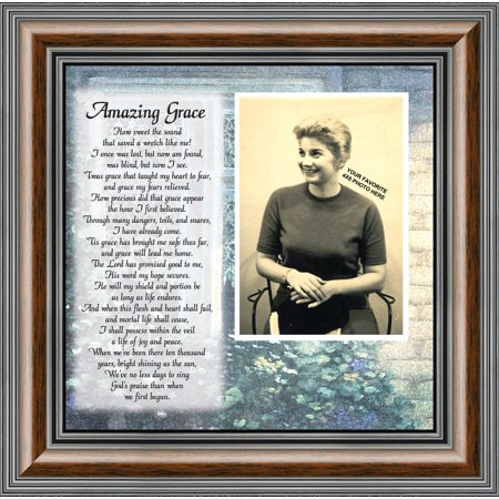 amazing grace,  in memory of loved one, religious gift, personalized picture frame, 10x10 6787