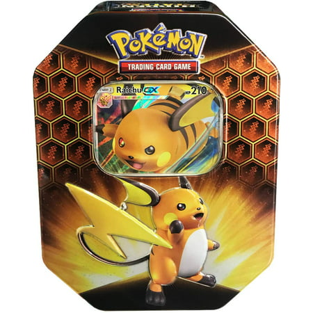 Pokemon Hidden Fates Raichu-GX Collector Tin 1st Wave Collectors Tin