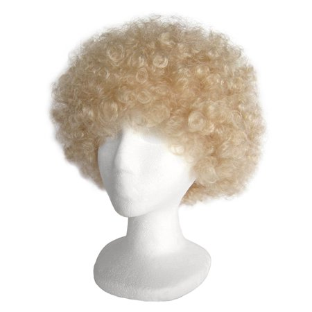 SeasonsTrading Economy Blonde Afro Wig - Halloween Costume Party Wig](Costumes With Afro Wigs)