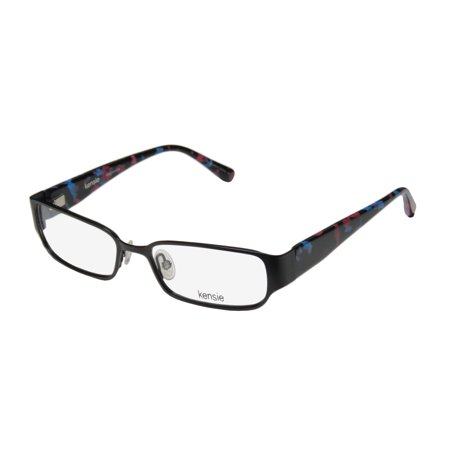 New Kensie Mischievous Womens/Ladies Designer Full-Rim Black / Blue / Berry Color Combination Stylish Frame Demo Lenses 53-16-135 Spring Hinges (Most Stylish Eyeglasses 2016)