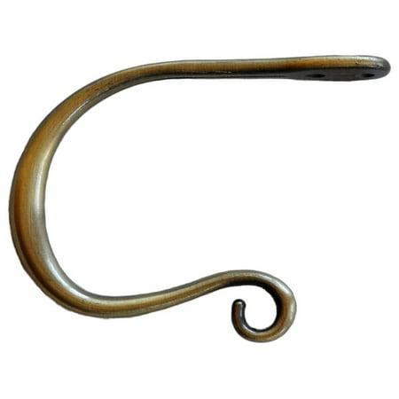 Urbanest Zinc Curl Holdback, Antique Brass
