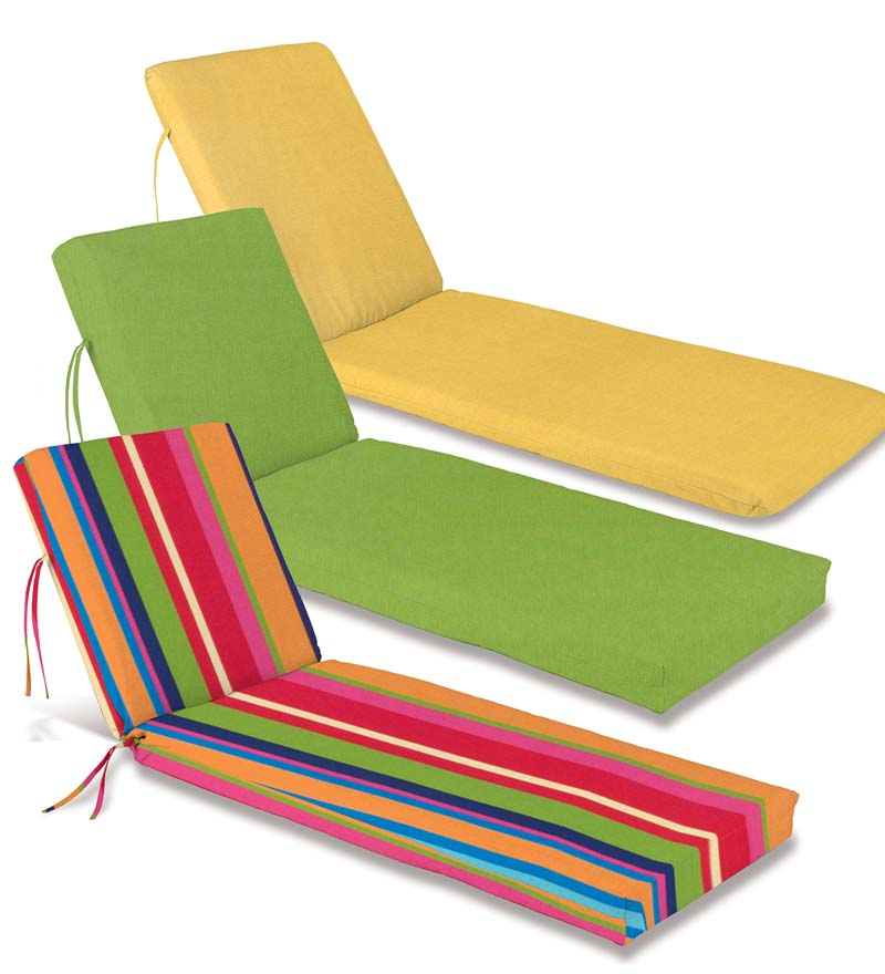 Weather-Resistant Outdoor Single-Hinge Chaise Cushion