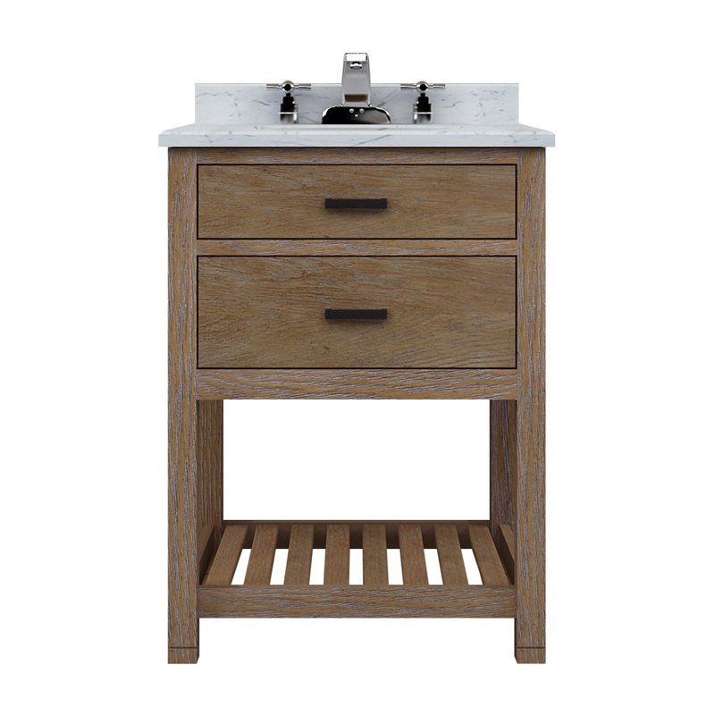 Sagehill Designs Toby TB2421D T24 In. Weathered Oak Single Bathroom Vanity  Set With Drawers
