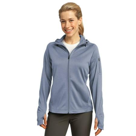 Sport-Tek® Ladies Tech Fleece Full-Zip Hooded Jacket. L248 Grey Heather L - image 1 de 1