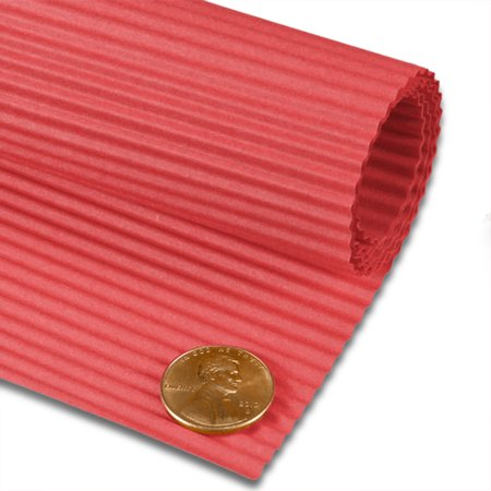 Red Corrugated Papers 19 5/8