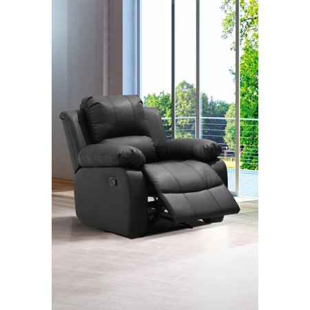 Stupendous Zoey Black Bonded Leather Living Room Rocking Reclining Chair Pdpeps Interior Chair Design Pdpepsorg