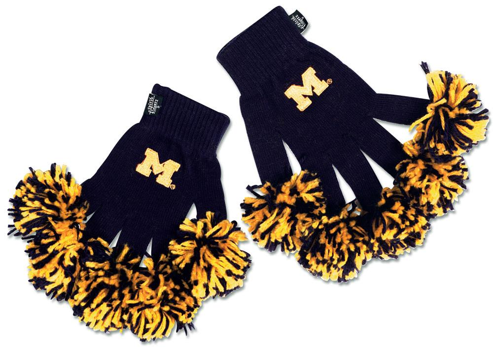 Michigan Wolverines NCAA Spirit Fingerz Embroidered Knit Gloves by Wincraft