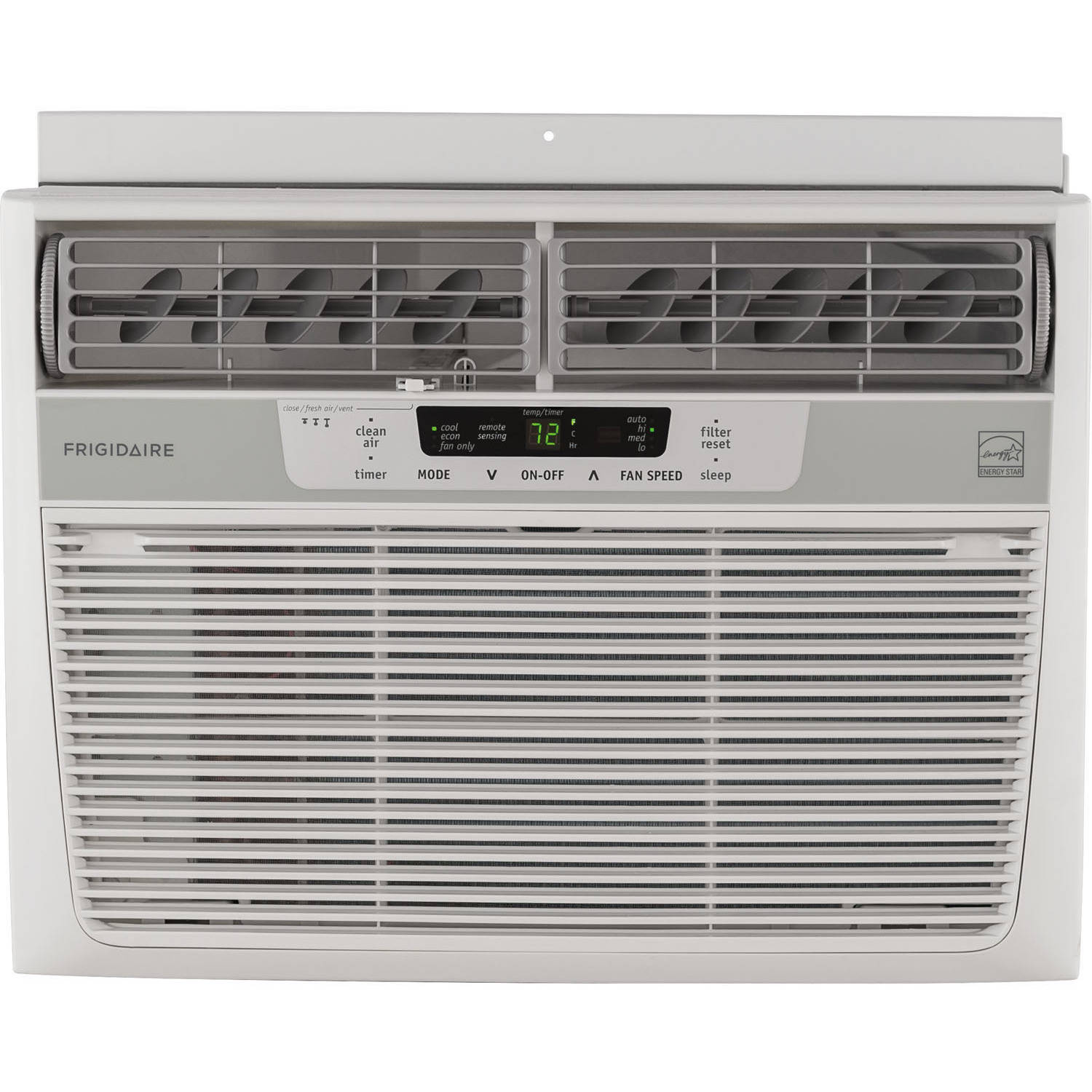Frigidaire FFRE1033S1 10,000 BTU 115V Window-Mounted Compact Air Conditioner with Temperature Sensing Remote Control