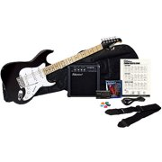Silvertone Citation Electric Guitar Package, Liquid Black