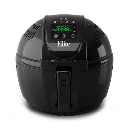 Elite Platinum EAF-1506D 3.5 qt Digital Air Fryer, Black