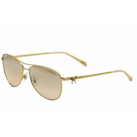 7634eb37aaf9d Tiffany   Co Women s TF3044 TF 3044 600259 Gold Aviator Sunglasses ...
