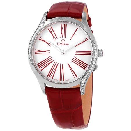 Omega De Ville Diamond White Dial Ladies Watch 428.18.36.60.04.002